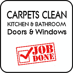Carpets cleaned, Kitchens and bathrooms cleaned