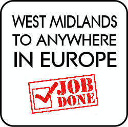 West midlands to anywhere in Europe.