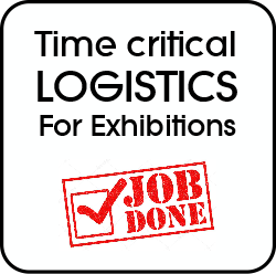 Time critical logistics for shows and exhibitions, job done.