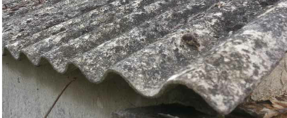 An old Asbestos garage roof.