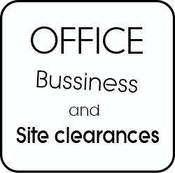 Office bussiness and site clearance.