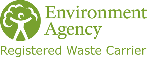 E.A registered waste carrier logo.