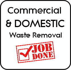 Domestic and commercial waste removed.